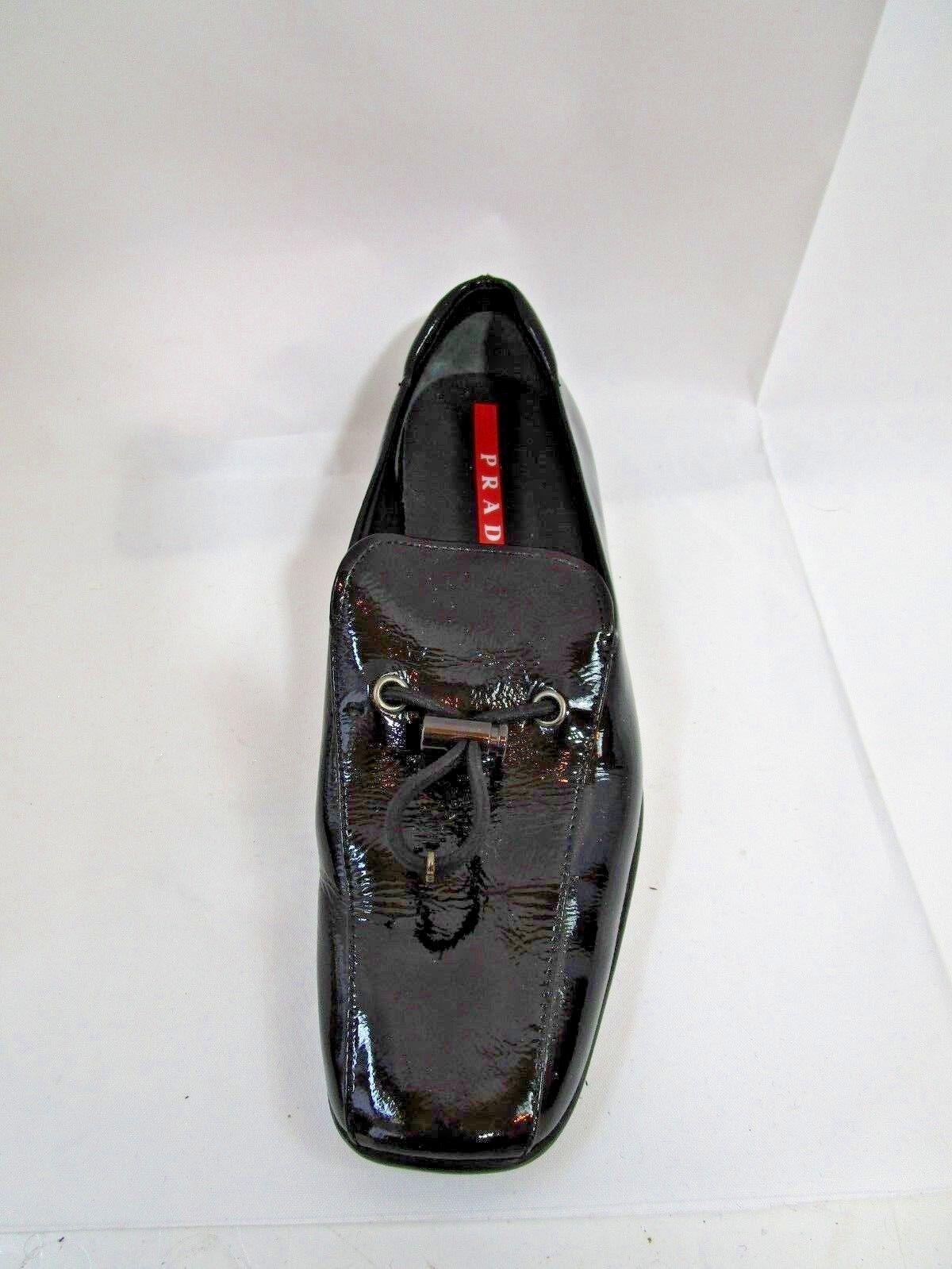 Prada Black Patent Leather Loafer SZ 5 Mint