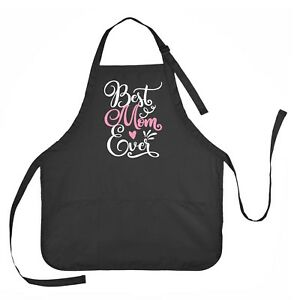 Number 1 Mom Apron with 2 patch pockets