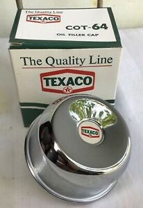 NOS vintage •TEXACO GAS STATION• old Chevy Ford Mopar oil pump can sign OIL CAP