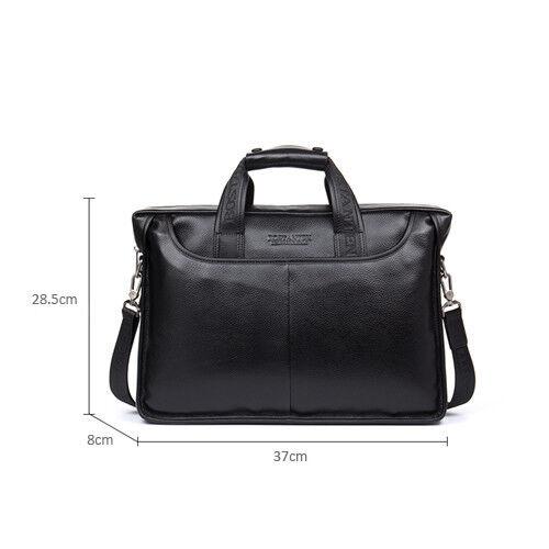 """Men/'s Genuine Leather Handbag Messenger Shoulder Tote Briefcase Laptop BAG 14/"""""""