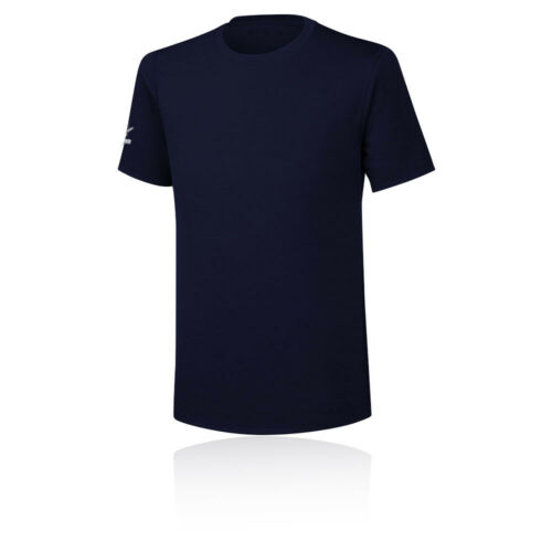 Mizuno Mens Team Wear Training Gym Fitness T Shirt Tee Top Blue Navy Sports