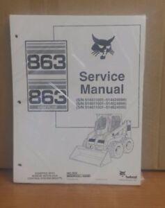 Bobcat-863-HF-Skid-Steer-Loader-Complete-Shop-Service-Manual-Repair-6724799
