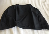 Dacee Womens Kids Swim Cap Lycra Bathing Cap Black One Size Fits All