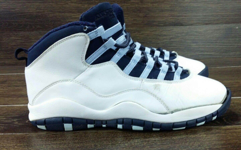 Nike Air Jordan Retro X 10 Obsidan Ice bluee 2005 Size 9 (310805-141)
