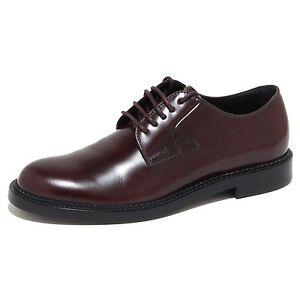 1888G scarpa bordeaux grigia TOD/'S DERBY BUCATURE uomo shoes men
