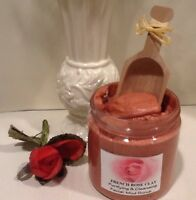 French Rose Clay- Face Mud Spa Scrub With Organic Oils-handmade By Spa Uptown