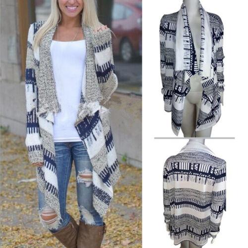 Women/'s Autumn Irregular Knitted Sweater Knitting Coat Casual Matching Cardigan