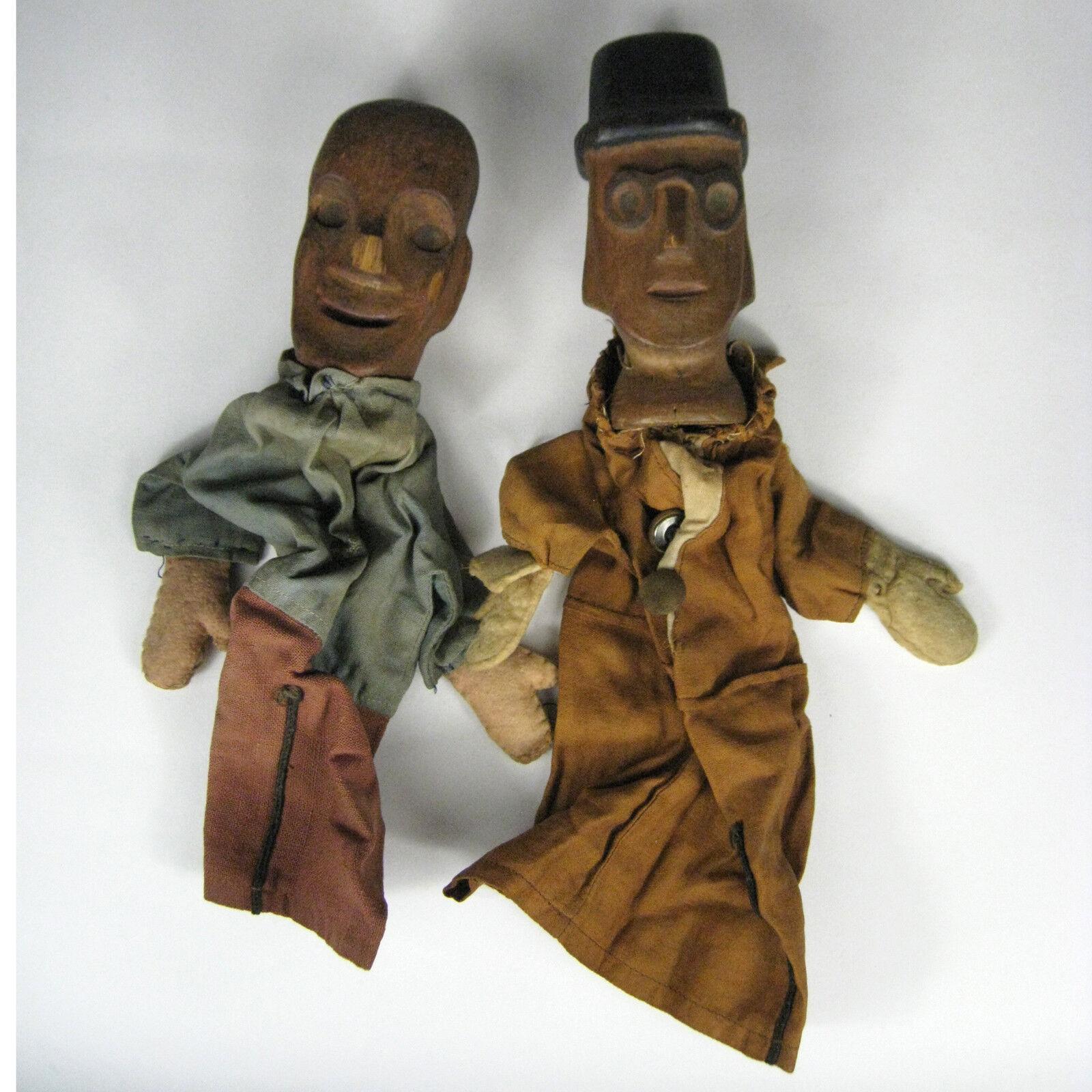 Finger Puppet Germany Wood 2 Vintage Wooden Hand Vintage