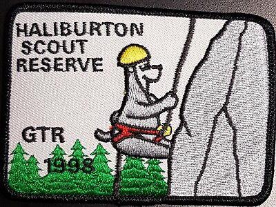 Scouts Canada 1986 Haliburton Scout Reserve crest badge patch