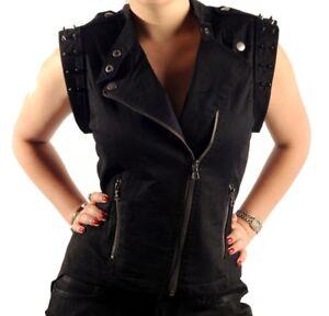 Lip-Service-Ladies-Hi-Low-Moto-Vest-Studded-Rocker-Chick-Top-Sexy-Vest