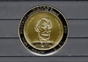Honig Manama Druck Goldfolie Ausgabe U Mi Katze 544 A Nur N Abraham Lincoln