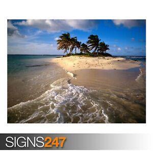 SANDY-ISLAND-CARIBBEAN-3286-Beach-Poster-Photo-Poster-Print-Art-All-Sizes