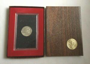 1971 S US Eisenhower Proof Silver Dollar Brown Box