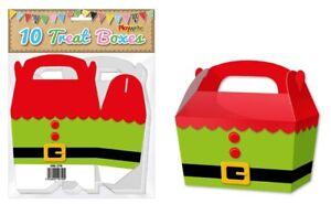 10-scatole-Elf-Tunica-Regalo-Regalo-di-Natale-festa-bambini-cupcake-Natale-Pacco-Borsa