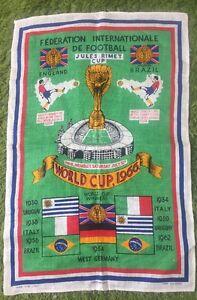 Lovely Irish Linen 1966 World Cup Tea Cloth - Nice Item