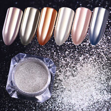 Mirror Silver Nail Glitter Powder Shiny Chrome Pigment Nail Art Dust BORN PRETTY