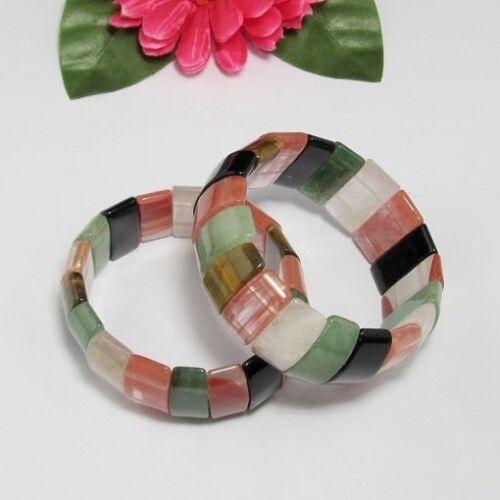 schön elastisch Farbig mix Armband aus Multi Edelstein Armband