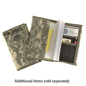 RAINE Military Leader Book Cover fits 5 1/2 x 8 Inch Log Record Books - USA MADE