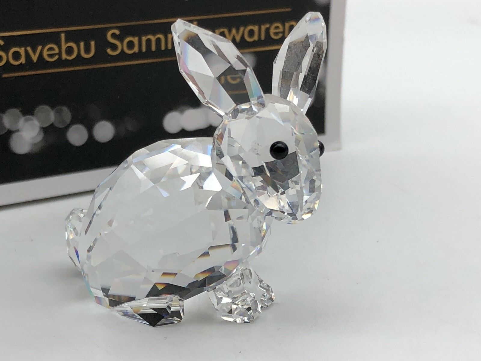 Swarovski Figurine 905777 Lapin Assis Cm 4 5 Cm Assis Excellent Etat
