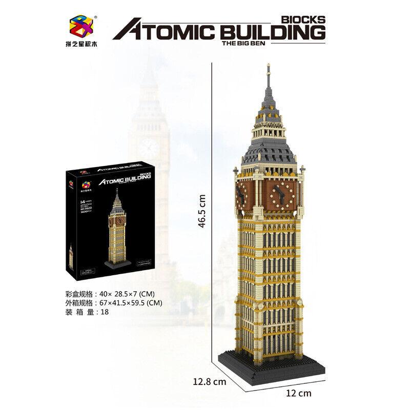 Bausteine Berühmtes Gebäude Big Ben Modell Kind Spielzeug DIY 3660PCS Boxed -OVP