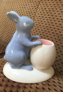 Yankee-Candle-Easter-Bunny-Rabbit-Tea-Light-Candle-Holder-Collector-s-Item-NEW