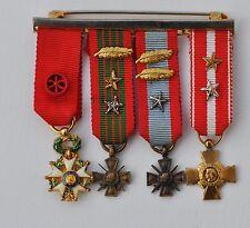 barrette de  réductions Officier Légion d'Honneur, 1939, Indochine, Algérie