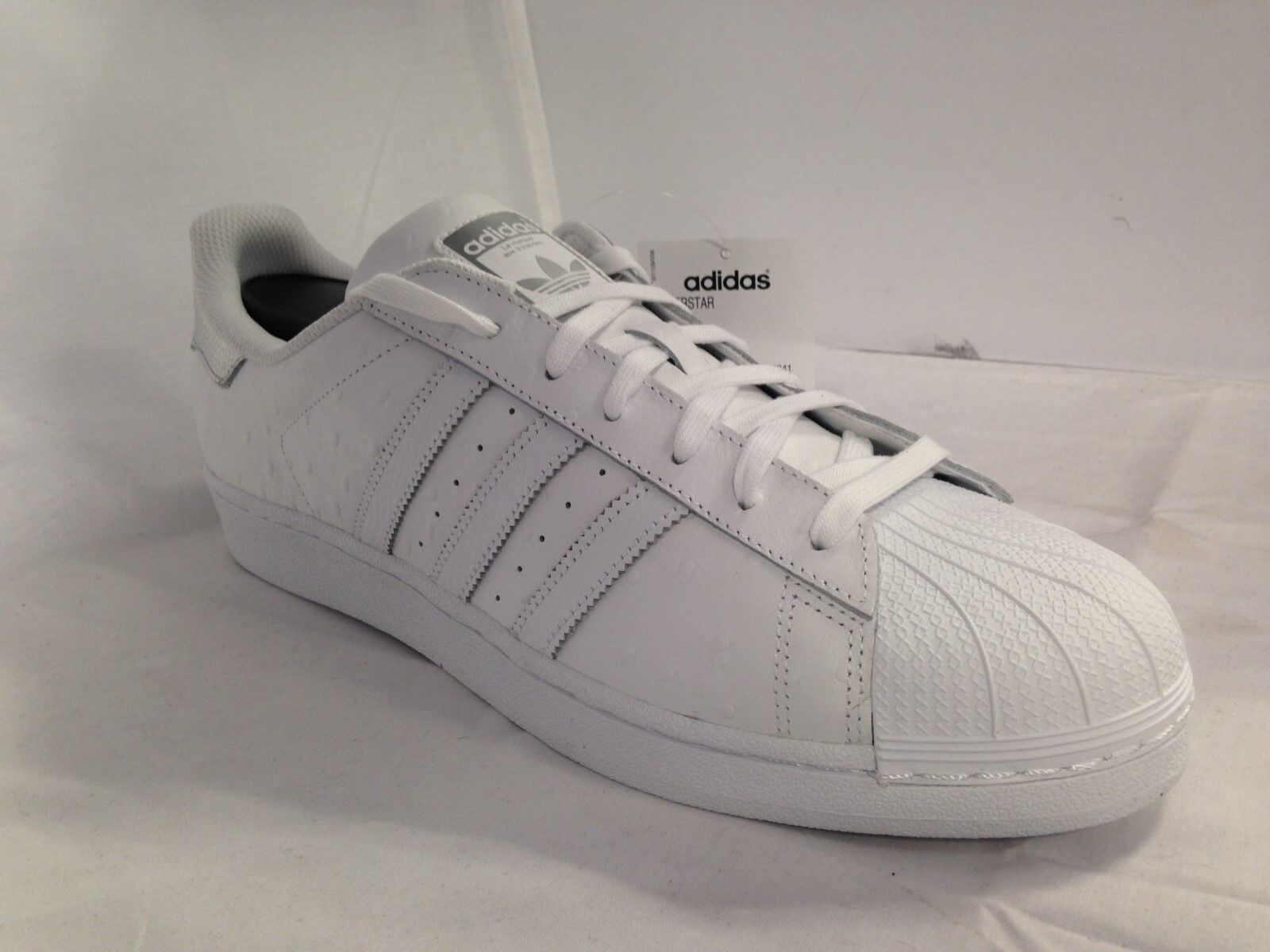 Blanc adidas superstar Blanc   / Argent  s80341 taille: 53f7a4
