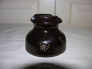 Image Is Loading Vintage Pp Inc 1952 Brown Porcelain Electric Insulator