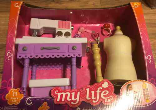 """My Life As Fashion Designer Play Set-Sew Design-Sewing Machine-For 18"""" Dolls-NEW"""