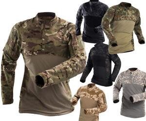 Men Long Sleeve Shirt Combat Military Army Tactical T-shirt Fishing Airsoft
