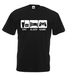 Fruit of the loom Eat Sleep Game T-shirt Gamer Gift Shirt