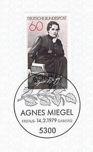 Rfa 1979: Agnes Miegel Nº 1001 Avec Le Bonner Ersttags-cachet Spécial! 1a! 156-rstempel! 1a! 156fr-fr Afficher Le Titre D'origine