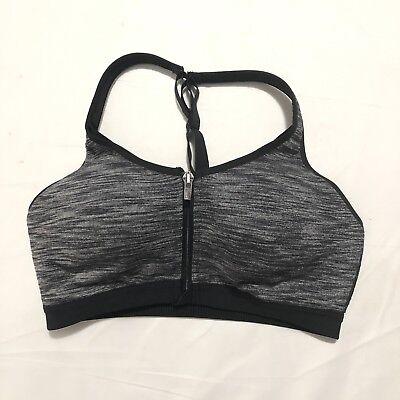 Women's Clothing Sports Bras Victoria's Secret Knockout Sports Bra Front Close Black Marled Gray Sz 32d Nwot