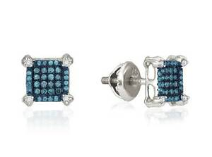 10K-White-Gold-Blue-Diamond-Earrings-Micro-Pave-Square-Studs-white-Accents-25ct