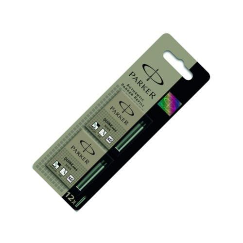 Parker Quink Mini Ink Cartridges Black 12 Pack S0881660