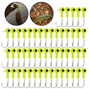 100Pc 1/16 oz w/ Clear Box Lead Jig Heads Fishing Hooks Crappie Lure Bait Tackle