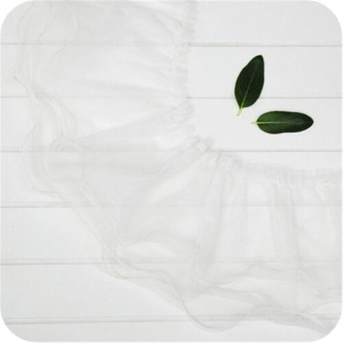1yd Gauze Pleated Lace Trims Three Layer Lotus Leaf Ribbon 6.91/'/' Width