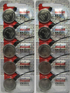 Lot-of-10-Genuine-Maxell-CR2032-CR-2032-3V-LITHIUM-BATTERY-Made-in-Japan-BR2032