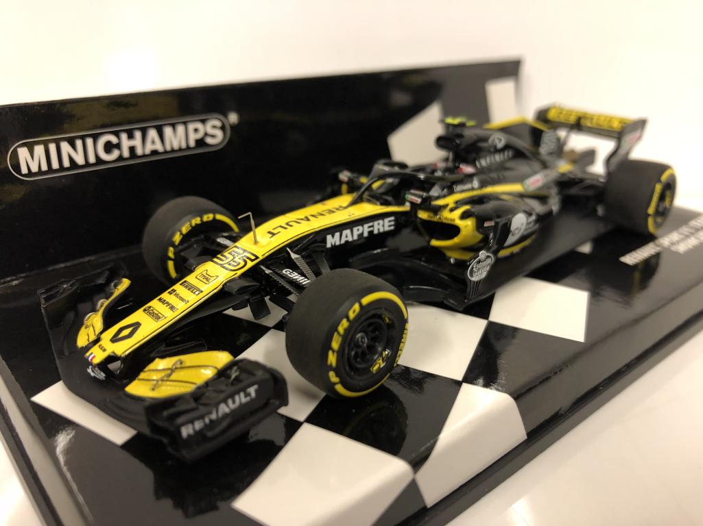 MINICHAMPS 417189055 C Sainz Renault Sport F1 Team  2018 voiture  gros prix discount