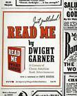Read Me: A Century of Classic American Book Advertisements by Dwight Garner (Hardback, 2009)