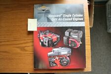 Briggs Amp Stratton Vanguard Single Cylinder Ohv Air Cooled Engines Repair Manual