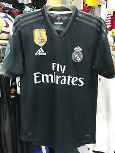 sale retailer 414e6 f0c1e Details about adidas Real Madrid Away Authentic Jersey 2018-19 With  Champions Patches Size XXL