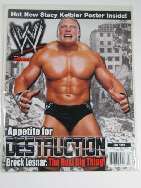 WWE World Wrestling Entertainment July 2002 Brock Lesnar Poster