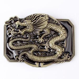Oriental Dragon Belt Buckle Western Cowboy Motorcyclist DRGN-04-S