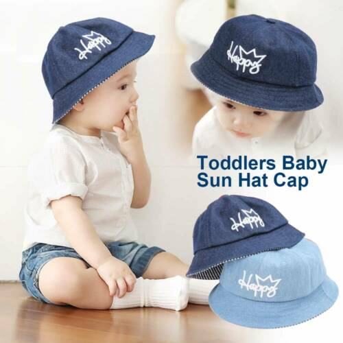Toddler Baby Sun Hat Summer Beach Hat Bucket Cap Newborn Kids Boy Girl 0-4 Years