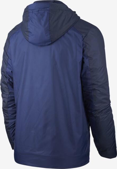 Blue AJ7956-429 Nike Sportswear Synthetic-Fill Men's Fleece Hooded Jacket