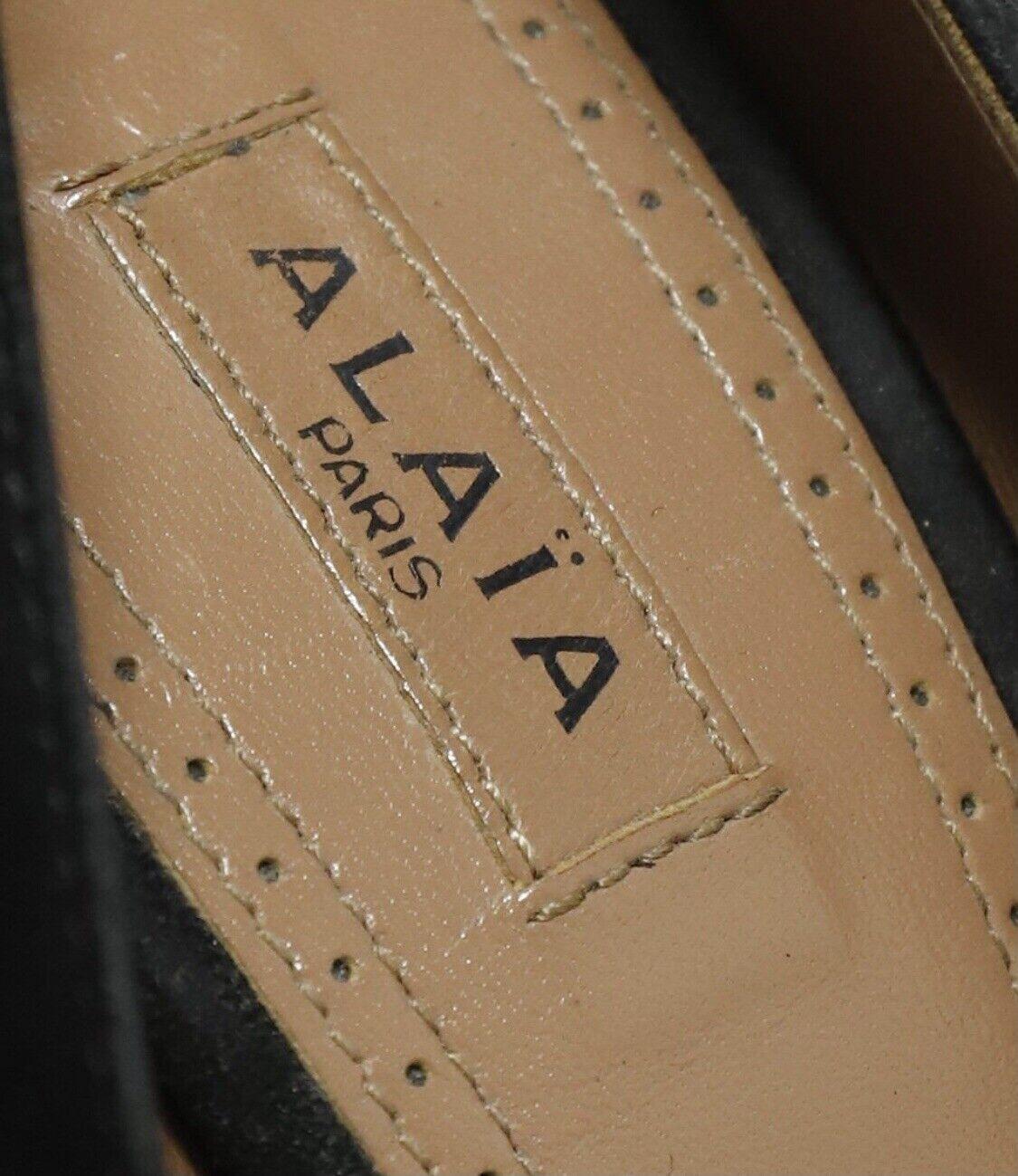 Azzedine Alaia BlackSuede Leather Heels Pumps Sz… - image 7