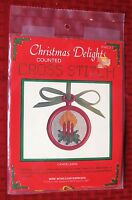 Wide World Christmas Delights Candelabra Cross Stitch Ornament With Frame