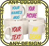 PERSONALISED MUG CUP GIFT FUNNY VALENTINE TEA COFFEE IMAGE PHOTO XMAS TEXT KIDS