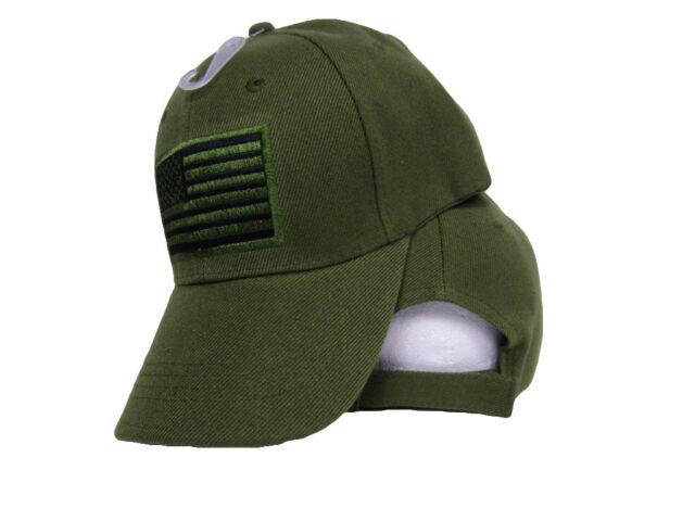 USA US U.S. America American Flag Green Patch Olive Baseball Cap CAP610A Hat b7aacaa9ba4